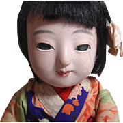 Very Old Japanese Meiji Ichimatsu Doll Collectible Gofun Made