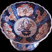 Fine-Antique-Japanese-Imari-Porcelain-Bowl-Scalloped-Rimmed-Meiji-Period