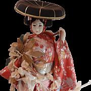 Fuji Musume Wisteria Maiden Japanese Doll Art Doll Kabuki