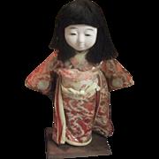 Japanese Ichimatsu Doll Gofun Collectible Kimono