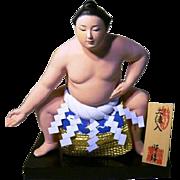Japanese Collectible Hakata Art Doll Sumo Wrestler Doyoiri by Syo