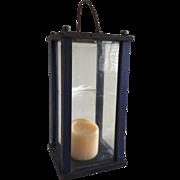 SOLD Wonderful Wooden Lantern - Original Blue Paint