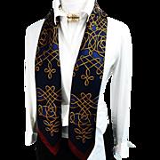 SALE Authentic Vintage Hermes Silk Scarf Vinci Navy Gold and Maroon - Buy 2 Vinci Scarves ...