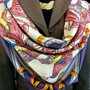 Authentic NIB Hermes Silk Scarf Le Ronde des Jockeys UNWORN Scarf Box with Bolduc Ribbon