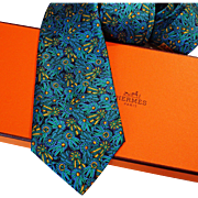 Authentic Pre-Owned Hermes Silk Tie 7210 UA with Neiman Marcus Tag