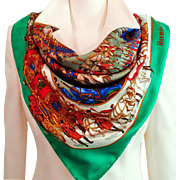 Authentic Vintage Hermes Silk Scarf Grande Cortege a Moscou 1992 Rare