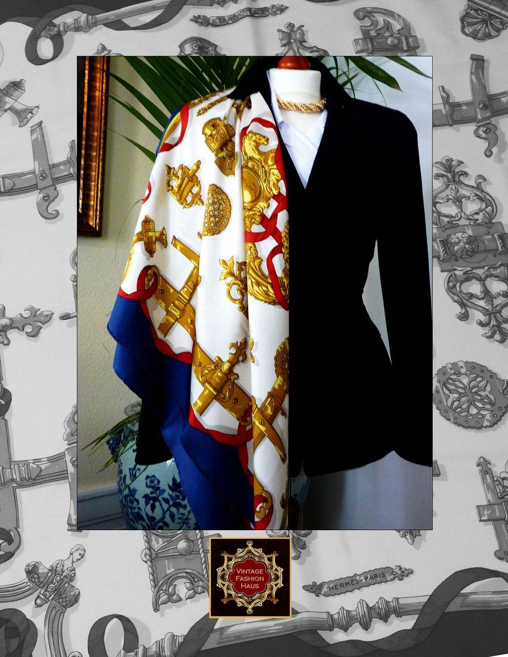 Vintage Original Hermes Silk Scarf FERRONNERIES from  Vintage Hermes Silk Scarves