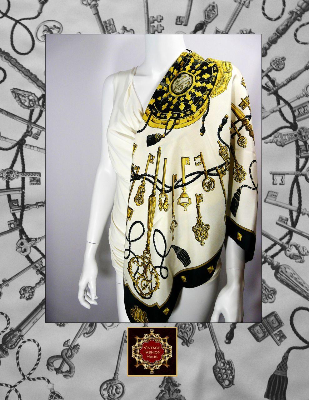 Authentic Vintage Hermes Silk ScarfCarre LES CLS designed by Cathy  Vintage Hermes Silk Scarves