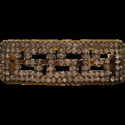 SOLD Antique Greek Key Rhinestone Open Work Celluloid Hair Clip/Barrette
