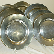 Pewter Charger Plates- Mid Century Hand Wrought-L. Whitney-Rockport,MA