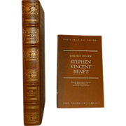 REDUCED Thirteen O'Clock, Stephen Vincent Benet, Franklin Library Leather Bound