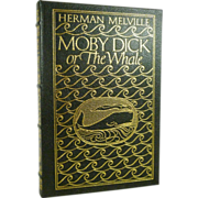 SALE Moby Dick, Herman Melville Easton Press Leather Bound,