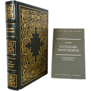 SALE Nathaniel Hawthorne Stories Franklin Library Leather Bound