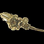 Silver-tone Flower Scarf Pin/Brooch