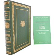 Edna Ferber Franklin Library Leather Bound Book\s