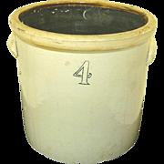 4 Gallon Pickle crock antique storage crock