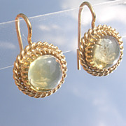 Sterling/Vermeil Finish Citrine Dangle Earrings
