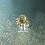 9kt Yellow Gold Sun Shine Yellow Citrine Ladies Ring