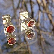 14kt Garnet Stud Earrings