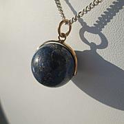 9kt Yellow Gold Lapis Lazuli Ball Pendant