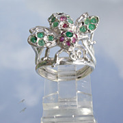Sterling Jewelled Honey Bee Ring