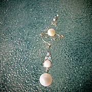 14kt Yellow Gold Multi Opal/Freshwater Pearl Pendant