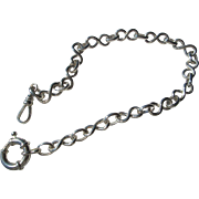 Silver Artisan Multi Link Watch Chain