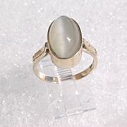 14kt Sterling Grey Tiger-Eye Ladies Ring