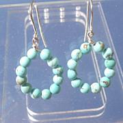 Sterling Multi Turquoise Dangle Earrings