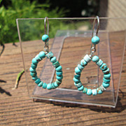Sterling Multi Shape and Color Turquoise Dangle Earring