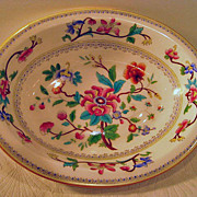 Royal Worcester Hand Painted Oval Bowl