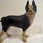 Hubley Cast Iron Boston Bull Terrier Doorstop