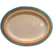 Royal Worcester Turquoise Trim Oval Platter