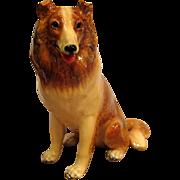 Mortens Studio Large Sitting Collie Dog Figurine