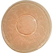 Pink Dogwood Depression Glass Salver Plate