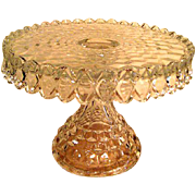 Fostoria American Pattern Footed Cake Stand