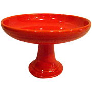 Vintage Red Fiesta Footed Compote Fiestaware
