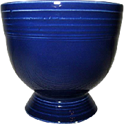 Vintage Fiesta Cobalt Blue Footed Egg Cup Fiestaware