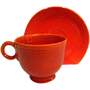 Fiesta Vintage Red Cup and Saucer, Fiestaware