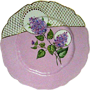 Lovely Hand Painted Limoges Plate with Blooming Lilac Design