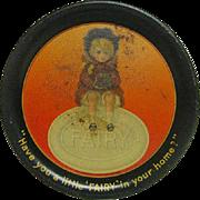 Metal Litho Tin Fairy Soap Tip Tray