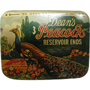 Deans Peacock Condom Tin complete with condoms