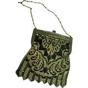 Stunning Black and Silver Whiting and Davis Mesh Purse