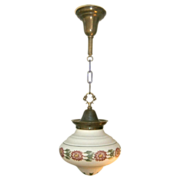 REDUCED Striking Vintage Glass Pendant