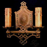 Vintage Pair Arts & Crafts Wall Sconce Light Fixtures