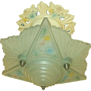 Consolidated Glass Flush Mount Light Fixture