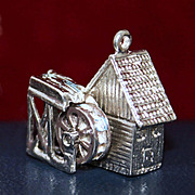 SALE Russian Silver and Amber Pin 875 Silver Soviet Era Brooch
