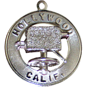 Vintage Sterling Hollywood Charm With Dimensional Movie Camera Solid Silver Los Angeles ...