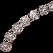 Sterling St. George Medallion Style Bracelet, Solid Silver Vintage Beauty, Patron Saint of UK