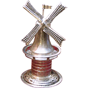 Dutch Solid Silver Spinning Windmill 833 Silver Vintage Charmer With Moving Blades Wheel and .
